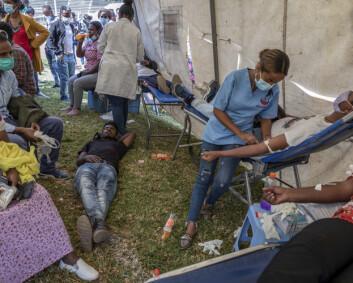 Storstilt bloddonasjon til sikkerhetsstyrker i Etiopia