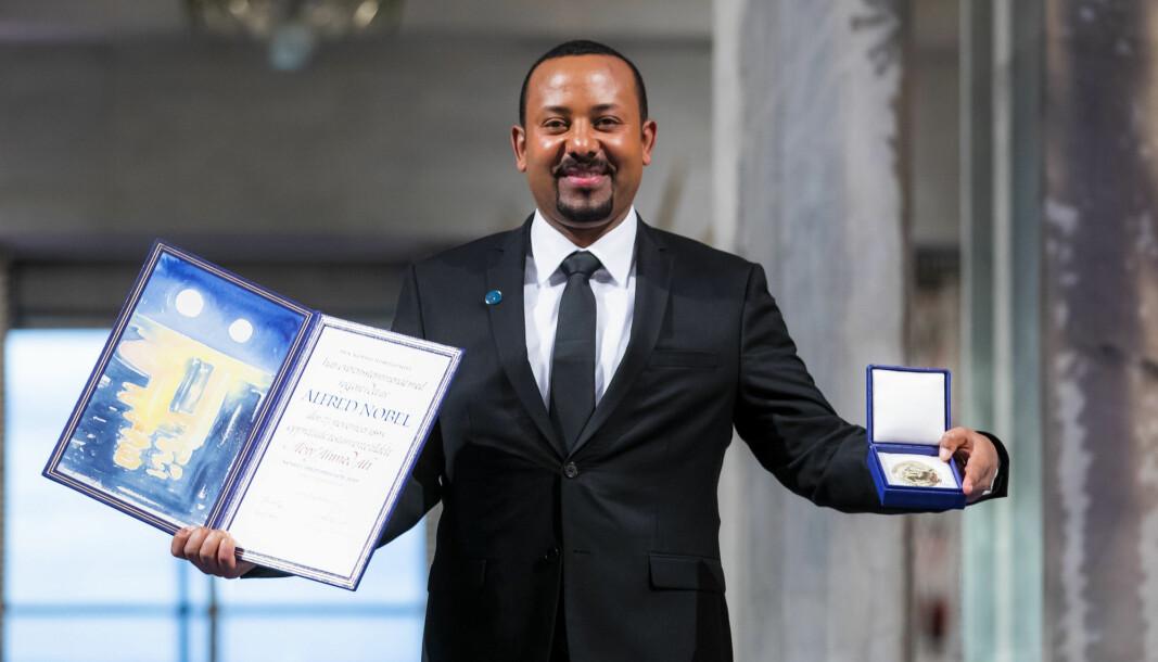 GIKK TIL KRIG: Etiopias statsminister Abiy Ahmed, som ble belønnet med Nobels fredspris i fjor, har gått til krig mot opprørere i Tigray-regionen.
