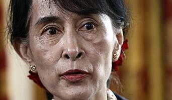 Fredsprisvinner Aung San Suu Kyis stjerne har falmet etter at hun overtok som leder i Myanmar, der de militære anklages for folkemord mot den muslimske rohingya-minoriteten. Her fra et besøk i Norge i 2012.