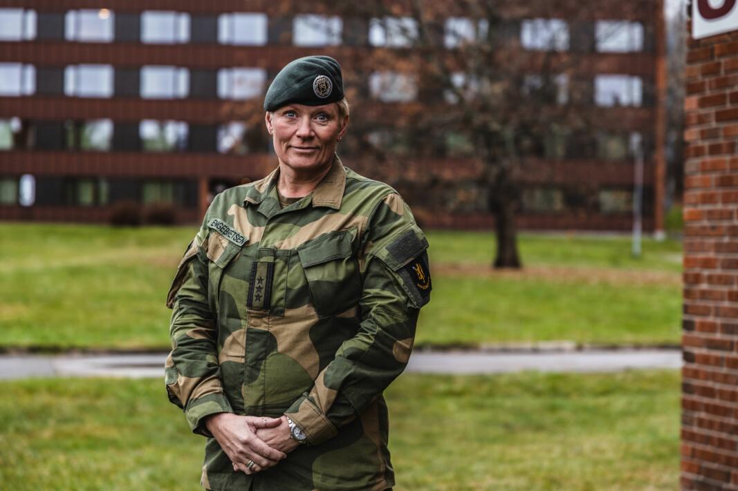 Oberst Sigrid S. Engebretsen-Skaret er sjef på Krigsskolen.