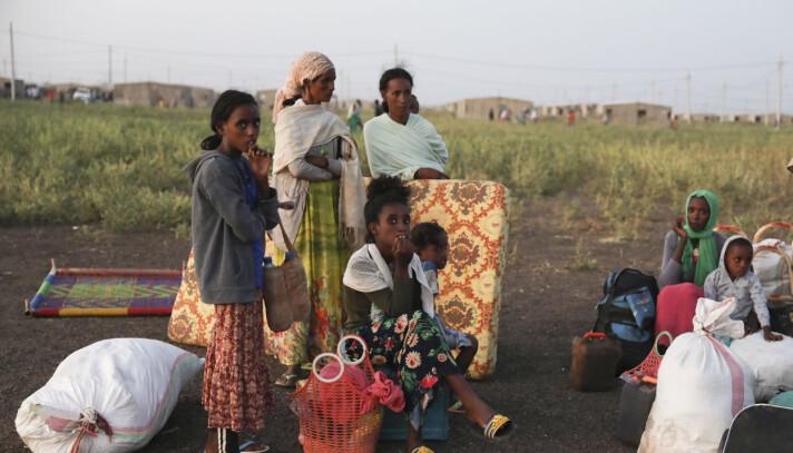 Etiopiske flyktninger i Qadarif-regionen i Sudan.