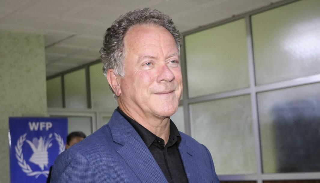 David Beasley, direktøren for Verdens matvareprogram har utsatt Oslo-besøket. Her er han avbildet etter at det ble klart at organisasjonen mottar Nobels fredspris.