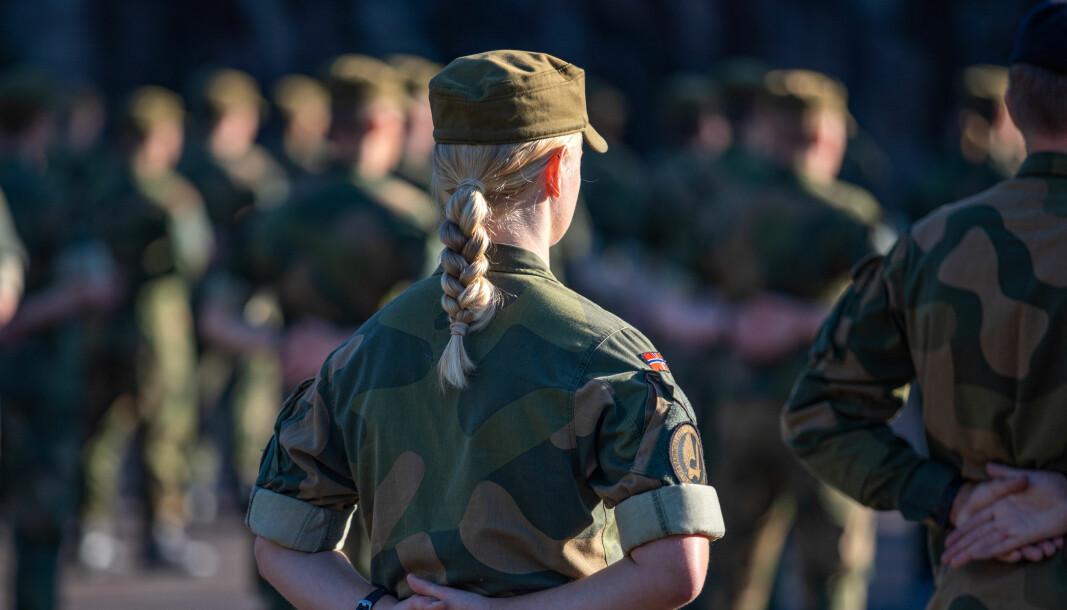KVINNEANDEL: Siden innføringen av allmenn verneplikt i 2015 er det nå rekordhøy kvinneandel i Sjø- og Luftforsvaret.
