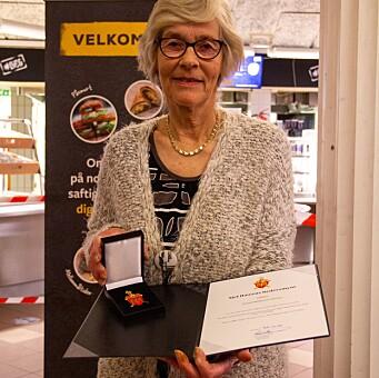 Astrid Birkelund Hansen har fått Sjef Hærens hedersmynt.