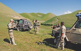 Kenneth Bjerkelund på «sosial-patrulje» i Nord-Afghanistan i 2007.
