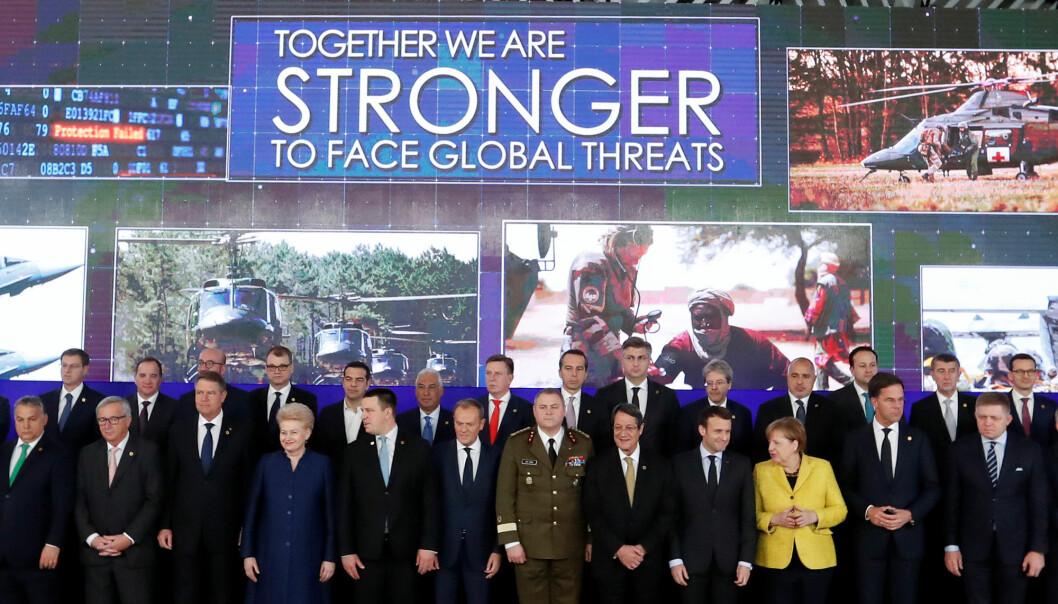 En forsvarsavtale for EU (PESCO) ble lansert rett før jul i 2017.