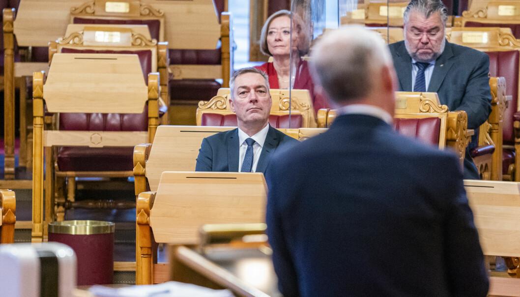 Forsvarsminister Frank Bakke-Jensen under Stortingets muntlige spørretime.