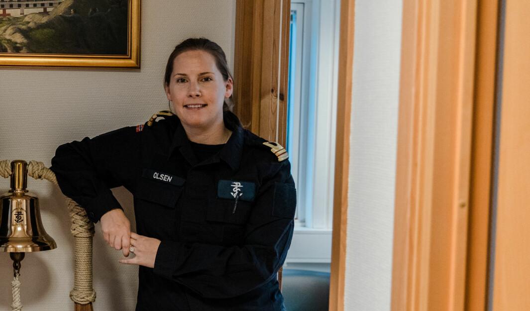 Maren Olsen er marinelege på Haakonsvern.