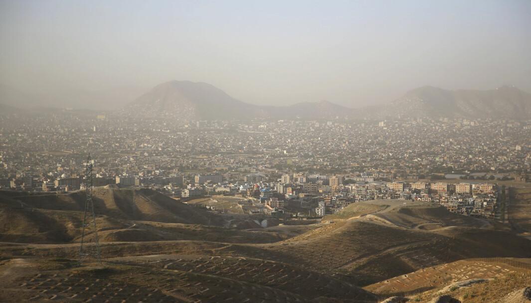 Dette bildet av Kabul i Afghanistan ble tatt i juli i år.