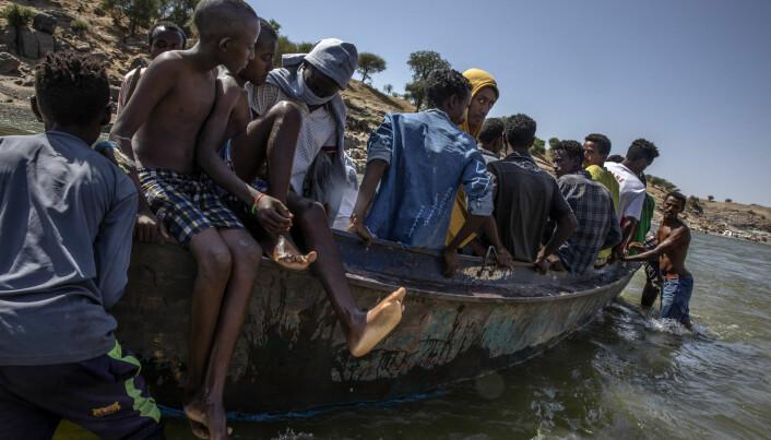 Flyktninger frå Tigray har kome til Sudan.