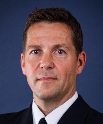 Michel Hayes er talsperson i Sjøforsvaret. Foto: Sjøforsvaret