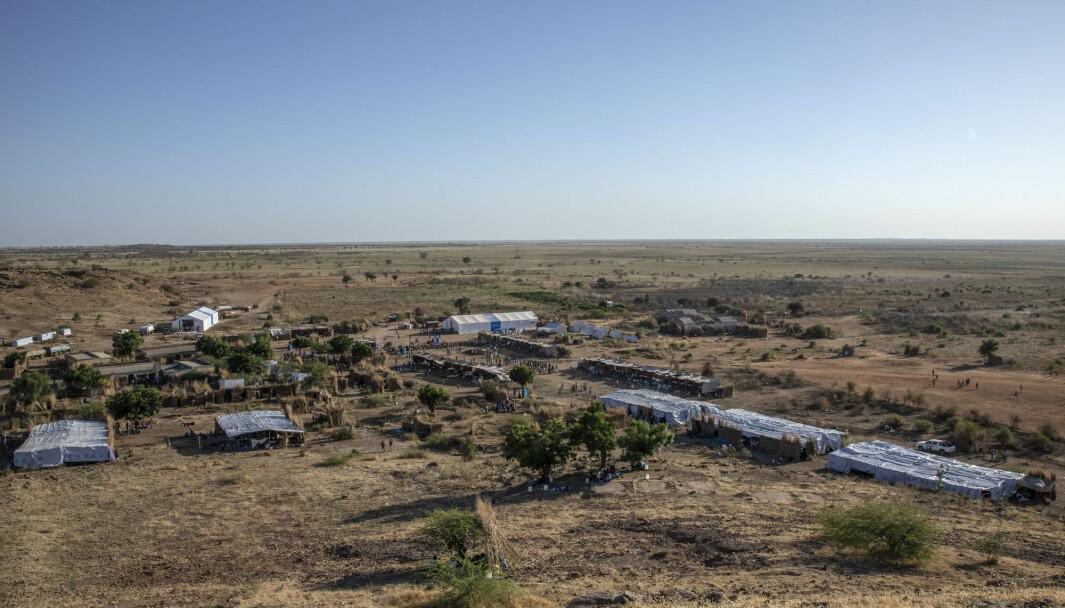 En flyktningleir i østlige Sudan - på grensen til Etiopia.