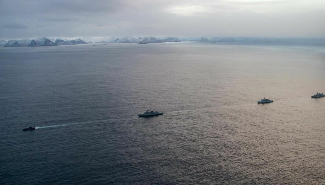 Fartøyer fra Natos stående maritime styrke deltar i øvelse Flotex.