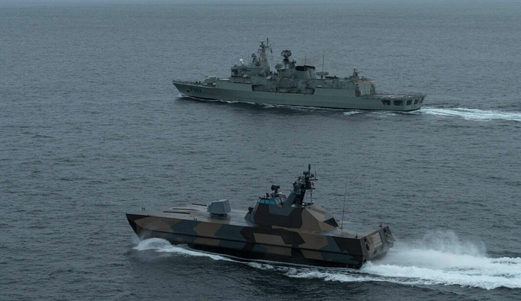 KNM Skjold sammen med «flaggskipet» i SNMG1, den portugisiske fregatten NPR Corte Real.