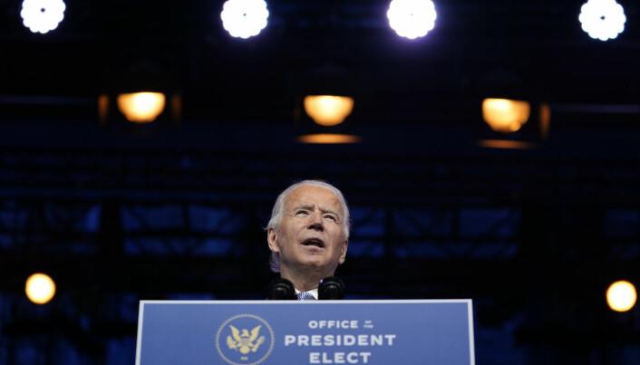 Påtroppende president Joe Biden tar over som president 20. januar.