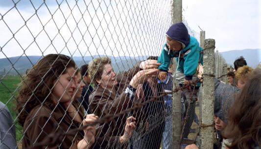 Flyktningleir i Makedonia.