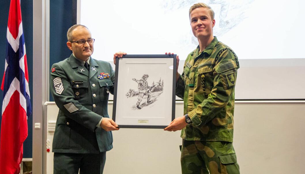 Tobias Grønn Knutsen tjenestegjør på Garnisonen i Sør-Varanger.