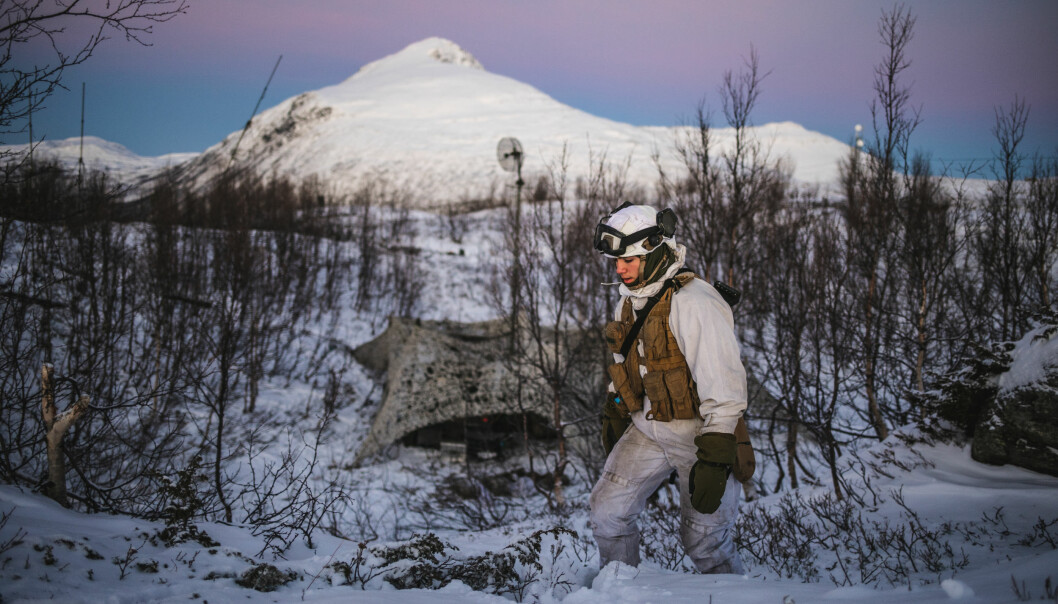 Telelag fra Sambandsbataljonen under øvelse Rein 2.