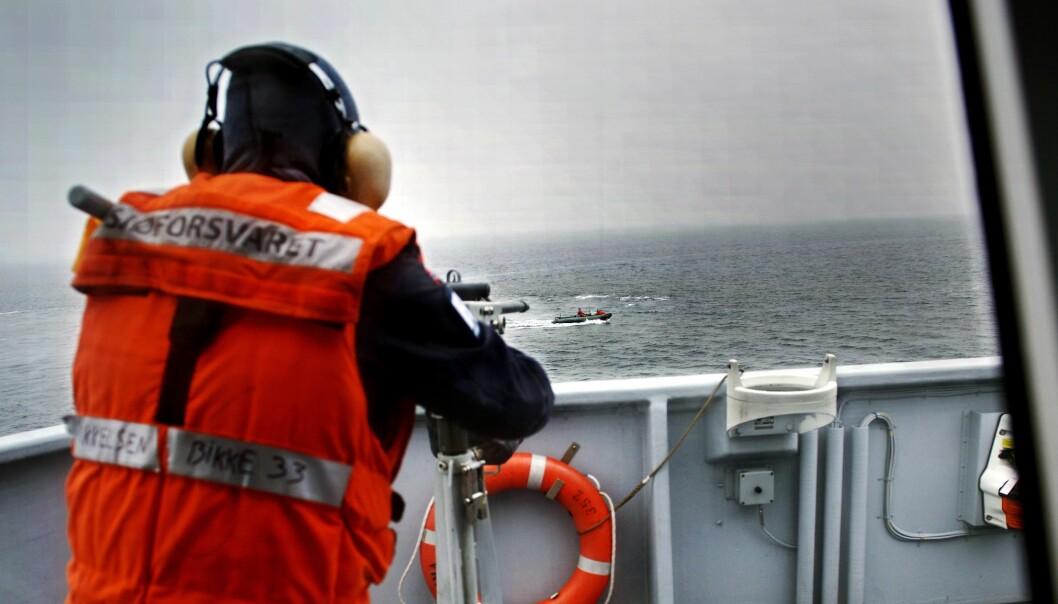 Under Nato-øvelsen høsten 2013 fikk KNM Rauma også avviklet egne øvelser, som å forsvares seg mot fiender eller øve på brann og redning.