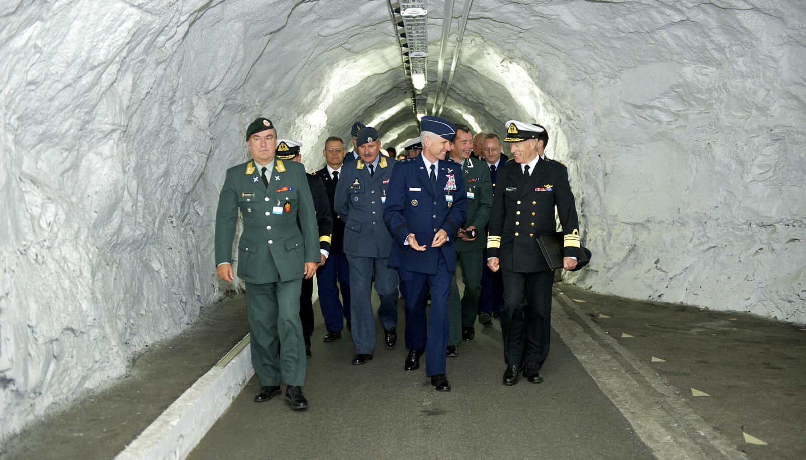 Fra nordområde konferansen i Bodø september 2012 På vei inn tunnellen til FOH reitan