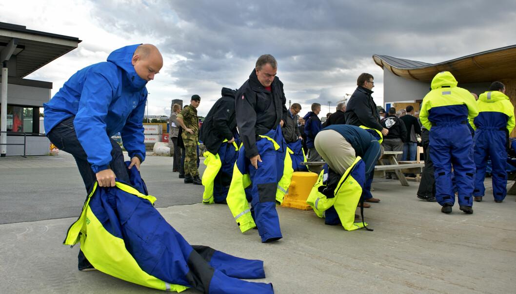 Fra nordområde konferansen i Bodø september 2012 Sosialt samvær i havgapet.