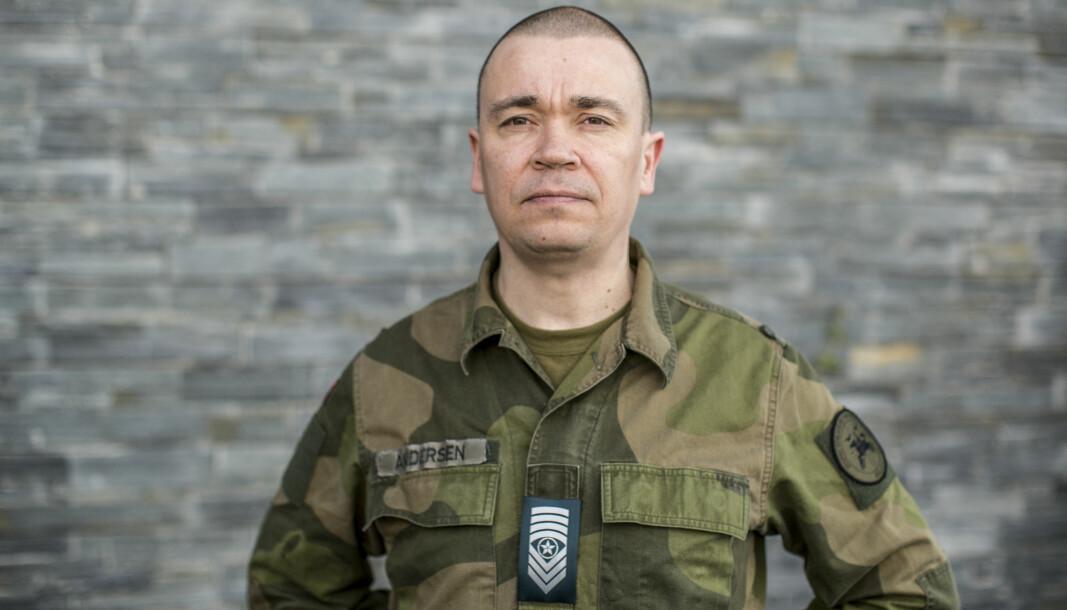 Sersjantmajor Inge Andersen skal ta Høyere befalsutdanning i Estland.
