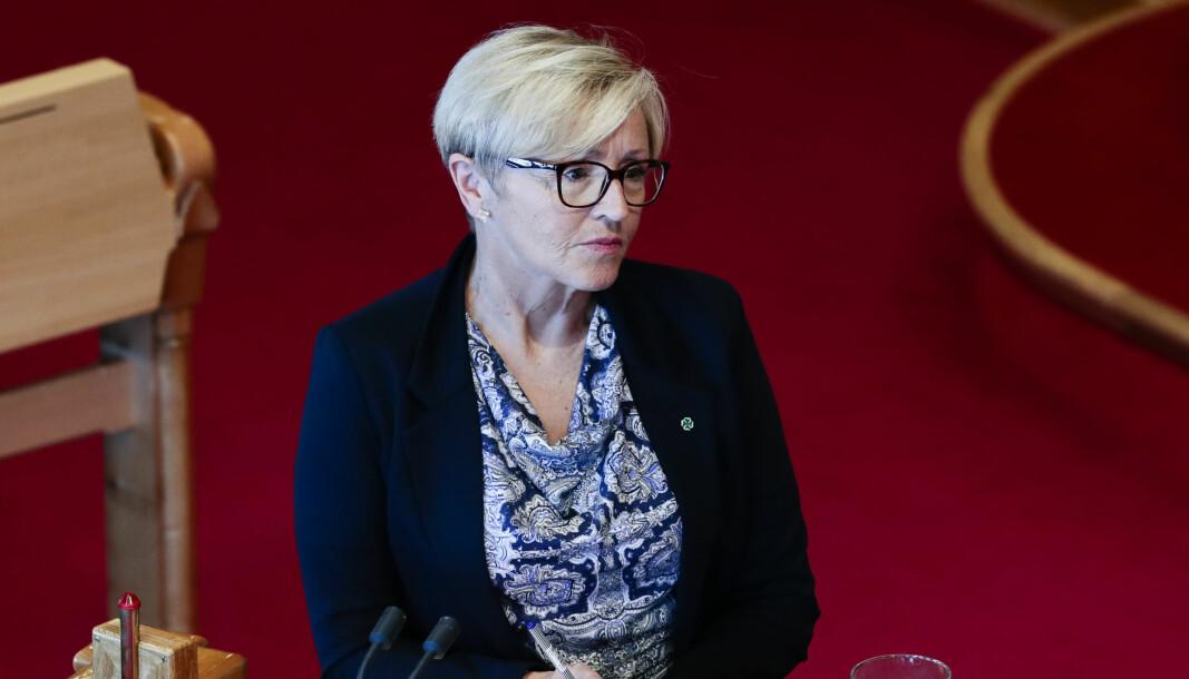 Liv Signe Navarsete (Sp) under Spørretimen på Stortinget onsdag 20. januar 2021.