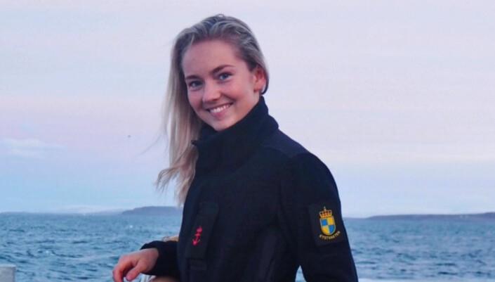 Sandra Myrskog Kronberg (22) tjenestegjorde i Kystvakten fra 2018 til 2019.
