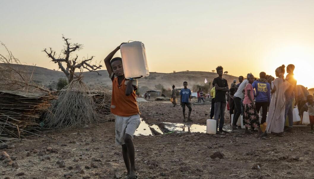 Vi kan fortsatt se en destabilisering av regionen, skriver Stig Jarle Hansen om konflikten i Etiopia. Her ser vi flyktninger fra Tigray-regionen i Etiopia.