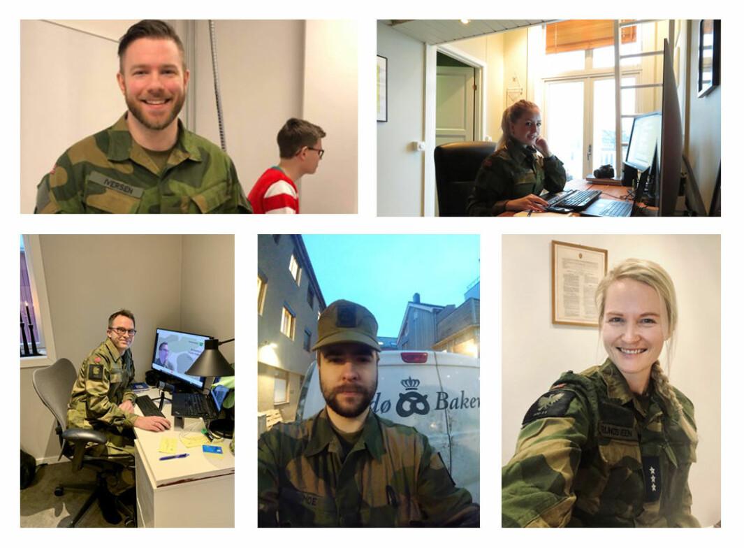 Fem av deltakerne i årets Uniform på jobben.