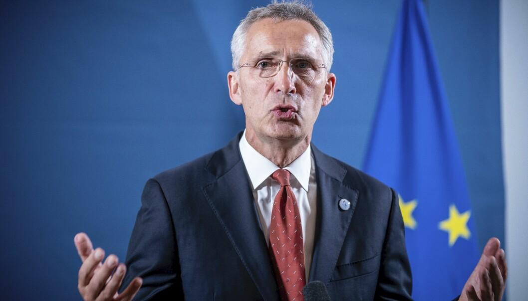 – Kina deler ikke våre verdier, sa Jens Stoltenberg. Nå ber den kinesiske ambassaden til Norge generalsekretæren til Nato om legge vekk «kaldkrigsmentaliteten».