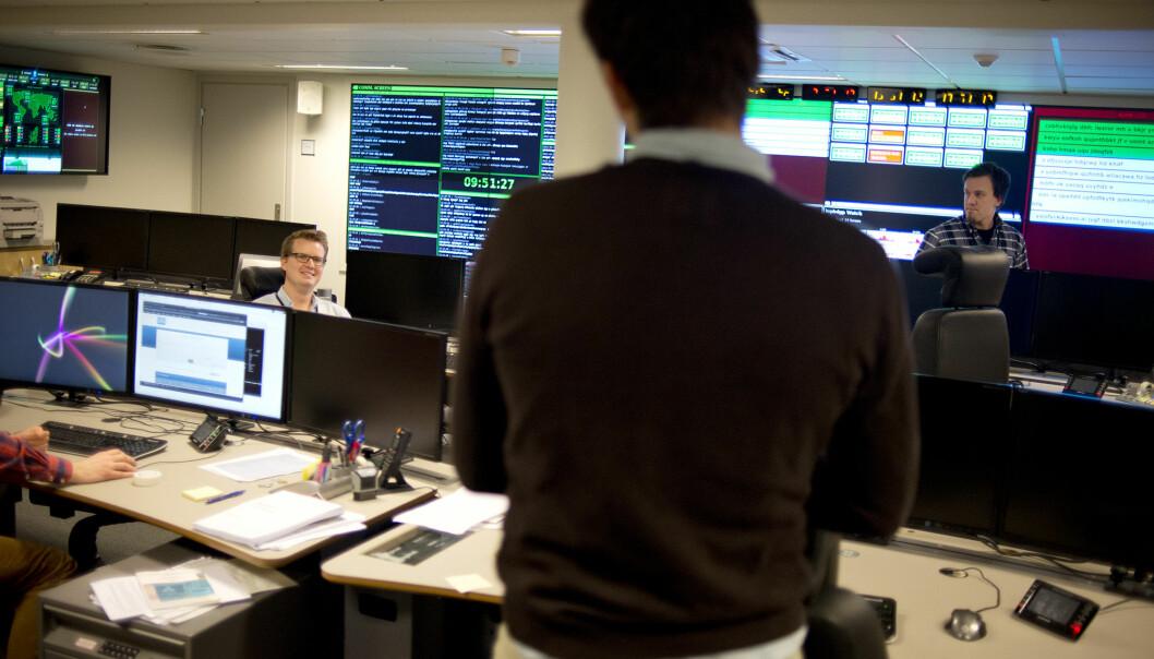 OPPDAGE: I lys av dagens trusselbilde må man også være i stand til å detektere trusselaktørene innenfor egne datanettverk, ikke bare på utsiden Dette bildet er fra en tidligere reportasje om Nasjonal sikkerhetsmyndighet (NSM).