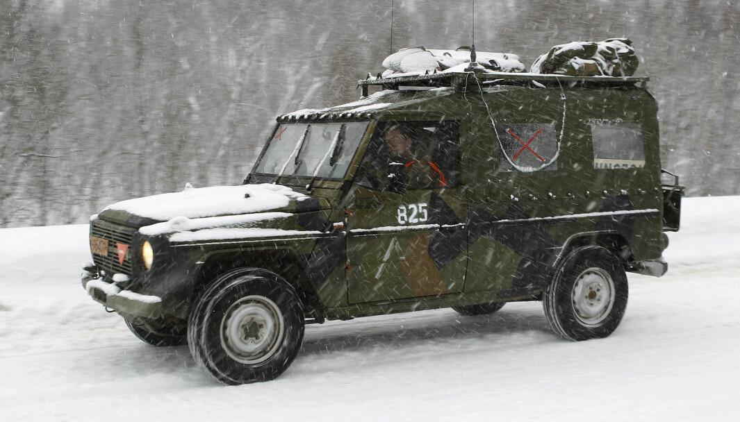 Det var en feltvogn av typen MB280 som var involvert i ulykken. Bildet er tatt fra en tidligere vinterøvelse og viser en MB240.