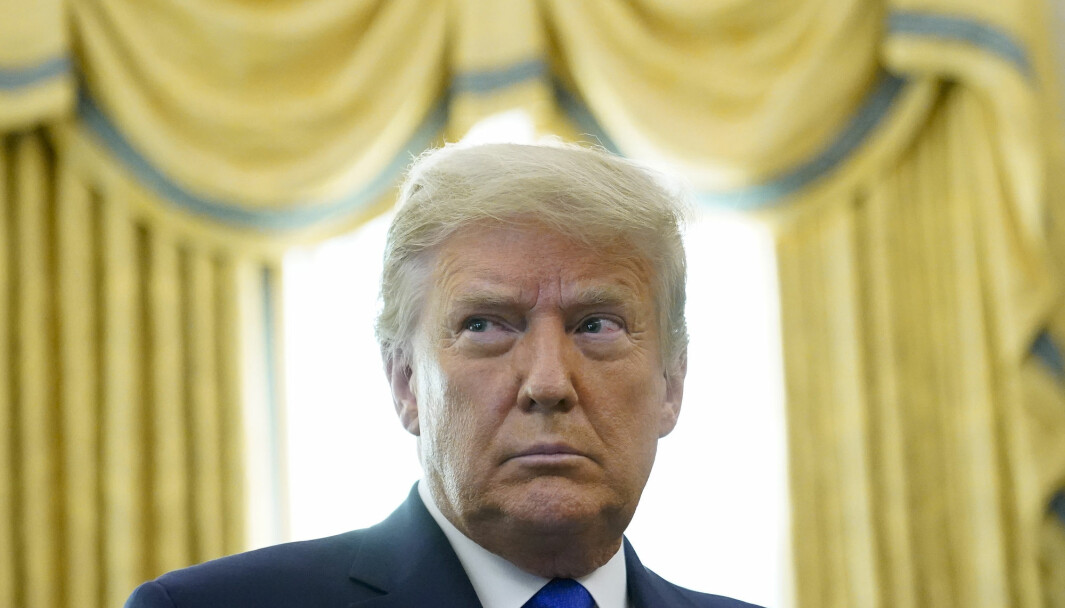 President Donald Trump i Det hvite hus i Washington.
