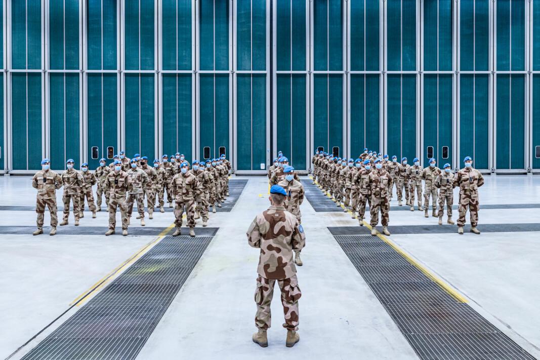 En kontingent med norske soldater står klare til å reise til Mali.