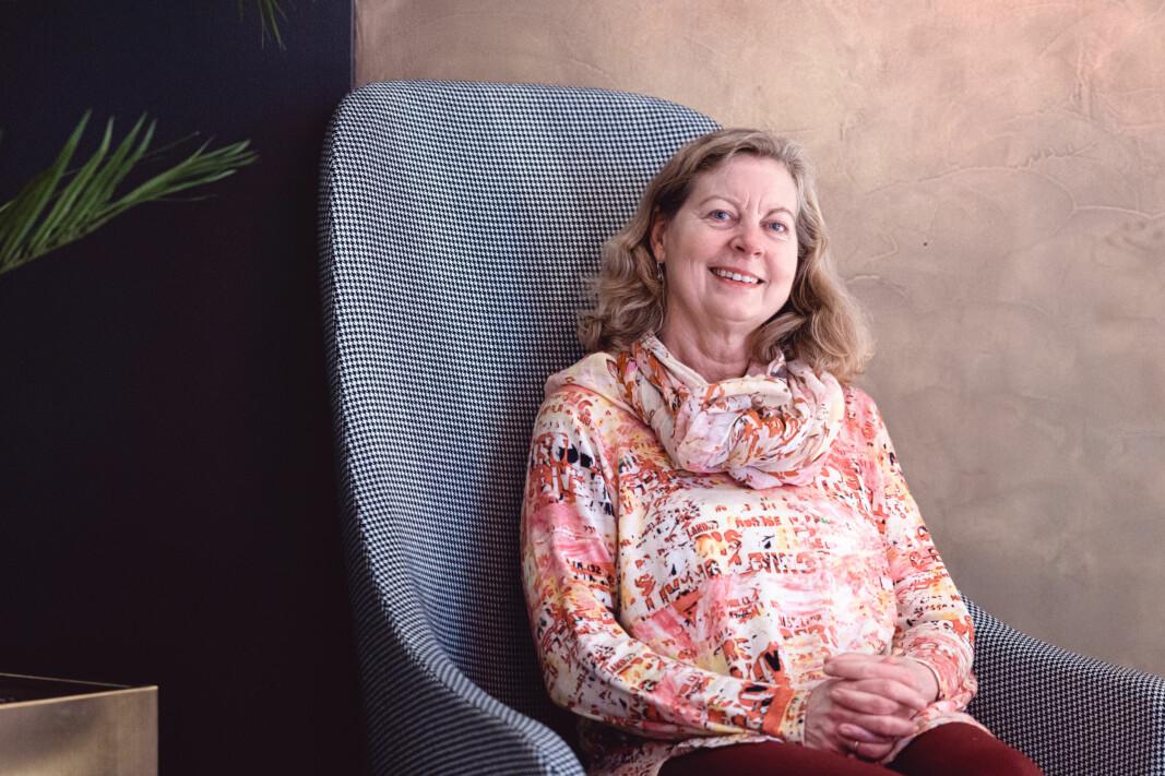 – Eg har alltid vore interessert i teknologi, seier Berit Svendsen.