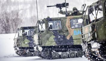 Beltevognene brukes ofte av utenlandske avdelinger under øvelser i Norge.