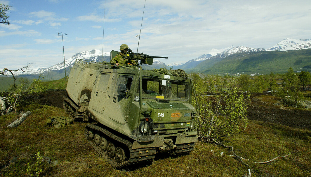 En beltevogn i Setermoen skytefelt. Nå skal 700 vogner oppgraderes.