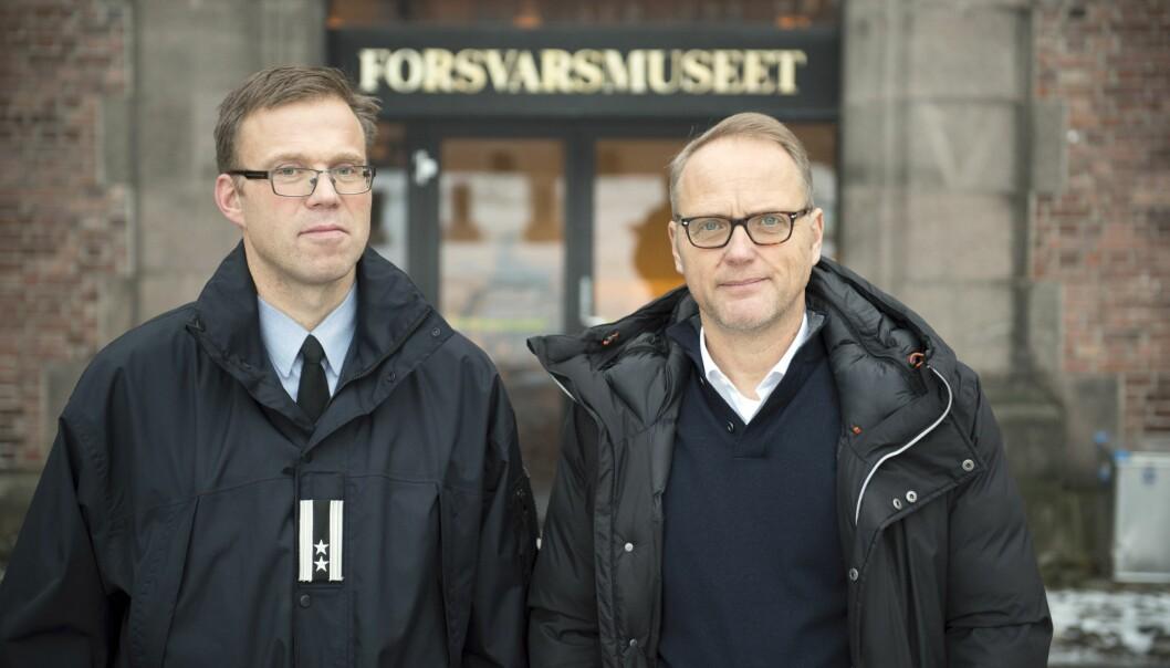 Erling Kjærnes og Harald Høiback (t.v.) mener tiden er moden for at Forsvarets museer får nye eiere.