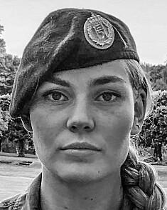 Karen Frederikke Løvenskiold, kadett og leder for tradisjonsbærerne ved Krigsskolen