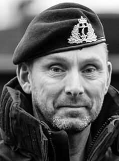 Sjef marinen, Rune Andersen, på ubåtkaia på Haakonsvern.