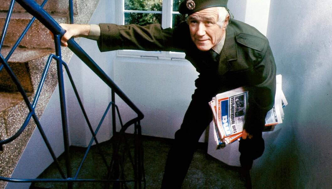 – Dette bildet ble ikke helt riktig. Jeg hadde da ikke uniform på meg da jeg var avisbud i Mannskapsvisa, sier Kjell Aukrust.