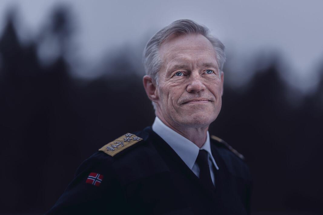 Nils Andreas Stensønes, sjef for Etterretningstjenesten fotografert på Lutvann leir. Foto: Krister Sørbø, Forsvarets forum