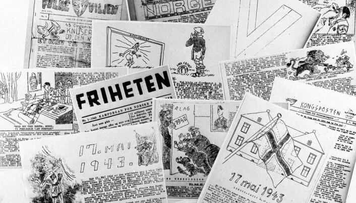 I løpet av krigsårene kom det ut rundt 300 illegale aviser i Norge.