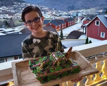 Kristian (9) laget KNM Glimt av pepperkake