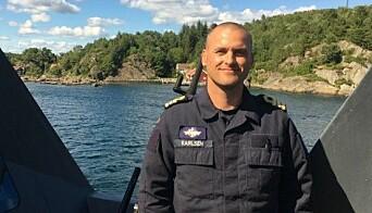 Tidligere skipssjef på KNM Glimt, Daniel Karlsen