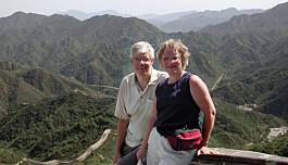 På Den kinesiske mur med Astri-Helene.