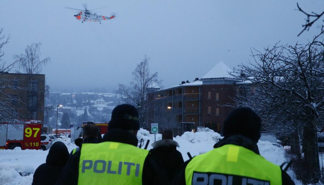 Et godt samvirke mellom politiet, forsvaret, regjeringen og sivile støttespillere er avgjørende for hvordan samfunnsoppdraget blir ivaretatt, skriver innleggforfatter. Dette bildet er fra leirskredet i Gjerdrum.