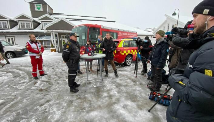Politiet holder pressekonferanse i Gjerdrum.