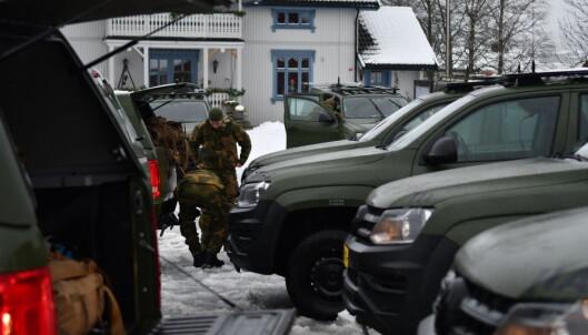 Soldater fra innsatsstyrken til HV02 på Gjerdrum.